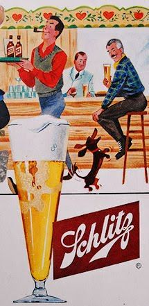 Vintage Schlitz Ad Doxie - oh my God, Gramma LaVerne would LOVE this!! For the Schlitz, not the Doxie!