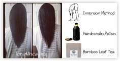 2 Inches Of Hair Growth In 5 Days? Inversion Method, Hairdrenalin Potion And Bamboo Leaf Tea http://www.blackhairinformation.com/growth/hair-growth/2-inches-hair-growth-5-days-inversion-method-hairdrenalin-potion-bamboo-leaf-tea/