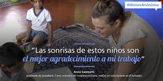 Infografía sobre Anna, una de nuestras #CooperantesCaixa, quien realizó voluntariado en El Salvador #HéroesAnónimos