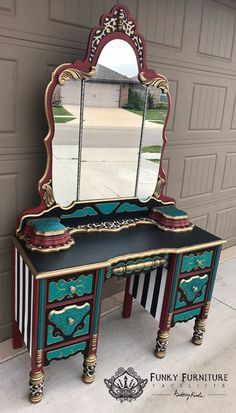 Furniture restoration projects style 61 Ideas for 2019 Whimsical Painted Furniture, Painted Chairs, Hand Painted Furniture, Funky Furniture, Upcycled Furniture, Unique Furniture, Home Decor Furniture, Furniture Projects, Furniture Makeover