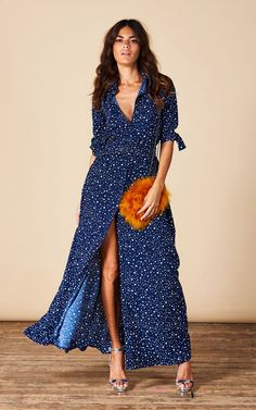 de0e812b75e Dove Dress In Navy Star By Dancing Leopard