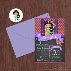 Convite aniversário Jasmine