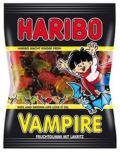 Haribo Bunte Vampire Sweets Sweets from Germany Ozzy Osbourne, Candy Recipes, Gourmet Recipes, Vampires, Haribo Gummy Bears, Mario Party Games, Fruit Gums, Chibi Food, Pokemon