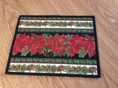 Christmas Holiday Poinsettia Quilted by countrysewing4U on Etsy