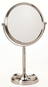 Kimball & Young 866 Series Recessed Base Reversible Vanity Makeup Mirror | seattleluxe.com