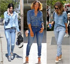 84ad7fc68 90 Best Outfit - Camisa Jeans images