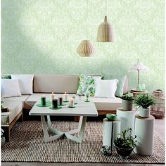 Holden Décor Statement Hadley Green Conversational Smooth Wallpaper - B&Q for all your home and garden supplies and advice on all the latest DIY trends Small Apartment Interior, Small Apartment Design, Small House Design, Tree Nature Wallpaper, Diy Wallpaper, Shop Interior Design, Exterior Design, Easter Bunny Decorations, Hadley