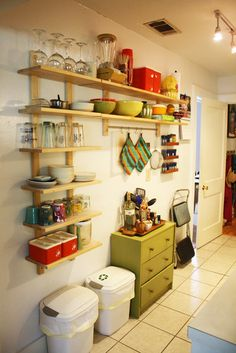 slim lined kitchen storage