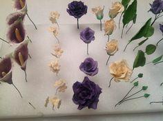 Gumpaste ( sugar paste) Flowers I made or a wedding cake