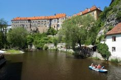 Cesky Krumlov, canoeing on the Vltava river