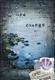 Jour 12 - 11 « x 14 » impression papier - art mixte nautique plage