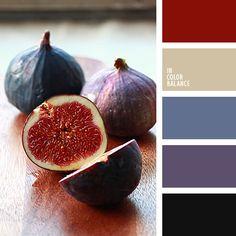 azul oscuro, azul oscuro y violeta, azul turquí, color berenjena, color burdeos, color higo, color pulpa de fruta, color pulpa de higo, combinación azul oscuro-violeta, de color violeta, elección del color para hacer una reforma, gris, Korolévishna, marrón grisáceo, paleta de colores