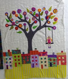 Cute little project...... Loving the colored cottages !