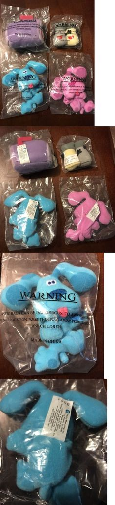 mailbox blues clues plush. Blues Clues 2626: New Mini Plush Finger Puppets Blue Magenta Mailbox Salt And P