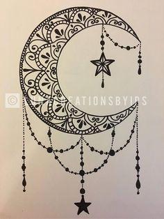Original Luna handmade mandala black canvas on white 18 X . - Original Luna handmade mandala black canvas on white 18 X - Moon Tattoo Designs, Mandala Tattoo Design, Henna Tattoo Designs, Tattoo Ideas, White Mandala Tattoo, Henna Moon, Henna Mandala, Doodle Art Drawing, Mandala Drawing
