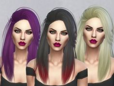 A retexture of LeahLillith Pretty Thoughts Hair Found in TSR Category 'Sims 4 Female Hairstyles'