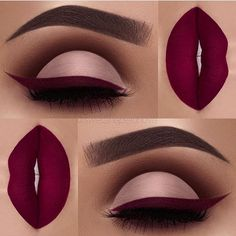 Obsessing over this glam combo by ✨@swetlanapetuhova✨! Love the perfect cut-crease, burgundy liner & lips! Stunning! Tag a friend who would love this! Upgrade your lash game for the holidays! Free shipping on all US orders! SHOP: www.luxy-lash.com