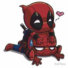 Spider-Man and Deadpool❤️ Spideypool. Deadpool Chibi, Deadpool X Spiderman, Chibi Marvel, Marvel Art, Marvel Dc Comics, Marvel Avengers, Deadpool Kawaii, Chibi Spiderman, Deadpool Funny