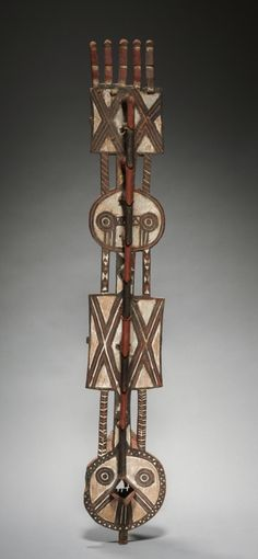 Western Sudan, Burkina Faso, Bobo, mid 20th century, wood and pigment, Overall - h:86.40 cm (h:34 inches). Gift of Katherine C. White 1971.291