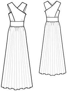 Dress - Sewing Pattern #5584. Made-to-measure sewing pattern from Lekala with free online download.