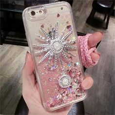 Bling Sun Brooch Design Iphone 6/6s Liquid Case