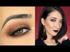 Bronze Eyes & Vampy Lips Makeup Tutorial - YouTube