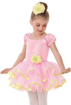 Weissman™ | Pink Satin Sequin Dance Dress