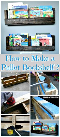 How to Make a Pallet Bookshelf - 150 Best DIY Pallet Projects and Pallet Furniture Crafts - Page 20 of 75 - DIY & Crafts