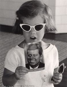 daddy's girl: caroline kennedy, when told this was a picture of the president, said 'no, that's my daddy'.