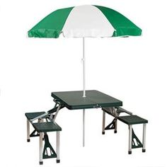 Folding Picnic Table Portable Umbrella Set Patio Outdoor Furniture Chair Bench for sale online Folding Furniture, Couch Furniture, Furniture Sets, Portable Picnic Table, Table Camping, Camping Gear, Camping Hacks, Camping Stuff, Camping Bbq