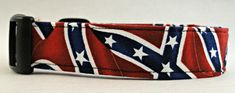 Check out this Unique collar! Awesome Confederate, Rebel, Civil War Flag Dog Collar!