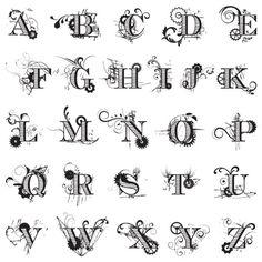 Digital Mechanical Fanfare Alphabet