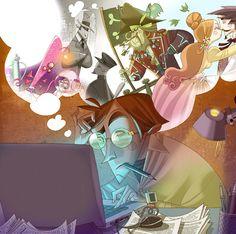 Ilustración libro de texto para 1º de la ESO. Creación 2011 .