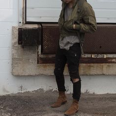 mens outfits with jeans Tomboy Outfits, Casual Fall Outfits, Cool Outfits, Men Casual, Street Outfit, Street Wear, Urban Fashion, Mens Fashion, Fashion Boots
