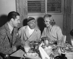 Don Ameche, Peter Lorre, and Sonja Heine at the 20th Century Fox commissary
