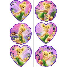 This is the perfect treat for all your mischievous pixies! The Tink Sweet Treats Tattoos are just the thing to show off fairy fun! These washable tattoos feature Tink in her magical garden, on a heart