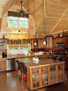 Log Home Kitchen 3
