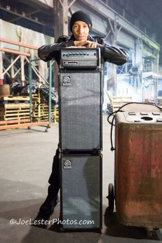 """That's dUg Pinnick with the Ampeg Micro-VR on the set of the new music video for KXM's """"Rescue Me."""""""