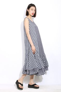Women dress Loose fitting Long Sundress Maxi Dress by YL1dress