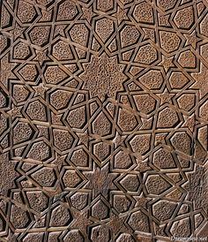 old doors iran | ... in the old wooden giant door of Yazd Jame Mosque, central Iran
