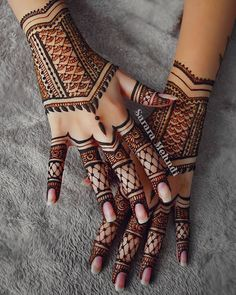 For the love of henna . tag a henna artist Henna Hand Designs, Mehndi Designs For Girls, Mehndi Design Images, Mehndi Art Designs, Beautiful Henna Designs, Bridal Mehndi Designs, Henna Tattoo Designs, Henna Tattoos, Tribal Henna Designs