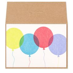 No better way to celebrate than with balloons! Wish them a Happy Birthday with this eco-friendly letterpress card.