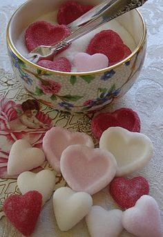 Heart shaped sugar. This would make my habit of eating sugar cubes even worse...