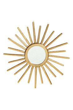 Round mirror - Gold - Home All   H&M