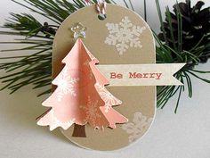 Pink Layered Christmas TREE Tags by StephanieMatsunaka on Etsy, $4.50