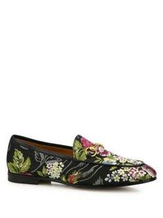 Gucci - Jordaan Floral Jacquard Loafers