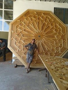 An excellent octagonal ceiling panel by Simohamed Benhammi from Marrakech. Islamic geometric design