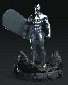 Comic Book Characters, Comic Character, Comic Books Art, Silver Surfer Comic, Futuristic Helmet, Marvel Statues, Art And Architecture, Marvel Comics, Action Figures