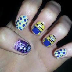 Despicable Me 2 / Minion nailart creation by @RY_MUA #despicableme2 #minion #minions #badminion #badminions #minionnailart #badminionnailart #despicableme2nailart #nailartdesign #nailart