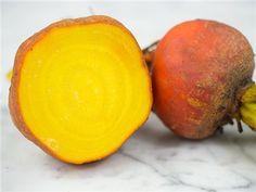 Golden Beet (heirloom) ~ My absolute fav! It is such a beauty in my edible garden with it's golden-yellow jewel tone. It's super mild and sweet. The leaves are great in soup!  Baker Creek Seed Company